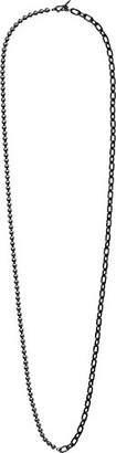 Michael Kors Fashion Pearl Links Gunmetal Choker Pendant Necklace