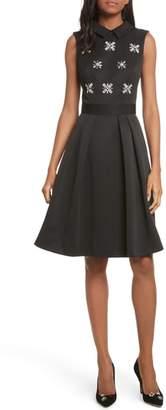 Ted Baker Embellished Fit & Flare Dress