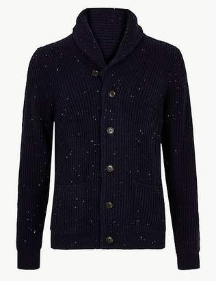 Marks and Spencer Shawl Neck Cardigan with Wool