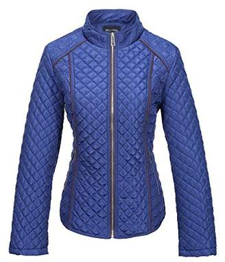 Bellivera Women's Stand Collar Lightweight Gilet Quilted Puffer Padded Zip Jacket for Spring and Autumn