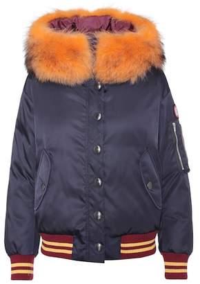 Miu Miu cropped hooded puffer jacket Clearance Wiki Outlet Locations Footlocker Cheap Online jlnZp