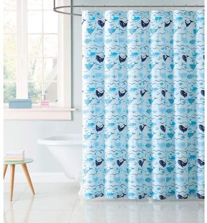 Laura Hart Kids Deep Blue Sea Shower Curtain