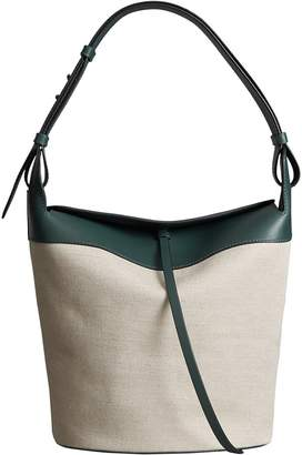 Burberry The Large Cotton Linen and Leather Bucket Bag