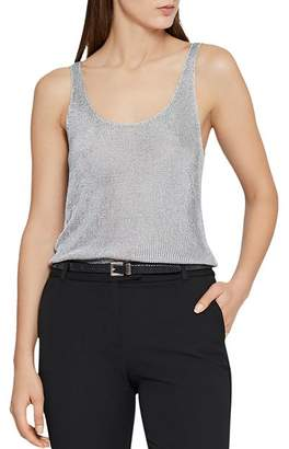 Reiss Lilian Metallic Knit Tank
