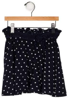 Il Gufo Girls' Polka Dot Knit Skirt
