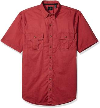 G.H. Bass & Co. Men's Tall Short Sleeve Solid Pigment Dyed Shirt