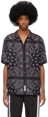 Alexander Wang Black and Grey Silk Bandana Shirt