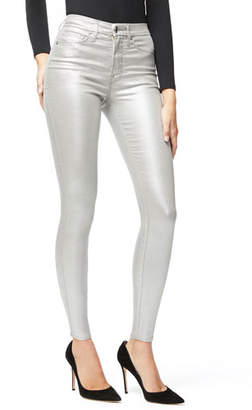 Good American Good Waist Metallic Coated Skinny Jeans - Inclusive Sizing
