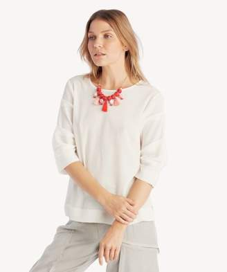 Sole Society Crewneck Pintuck Sleeve Blouse