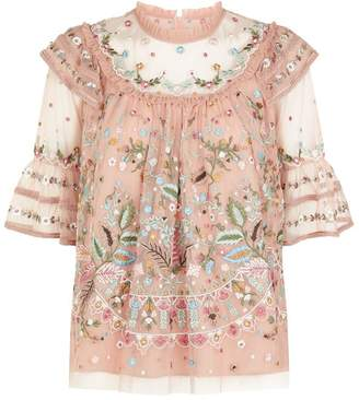 Needle & Thread Paradise Embroidered Blouse