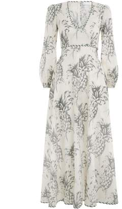 Zimmermann Wayfarer Plunge Long Dress