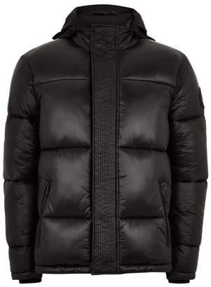 Topman Mens Black Puffer Jacket