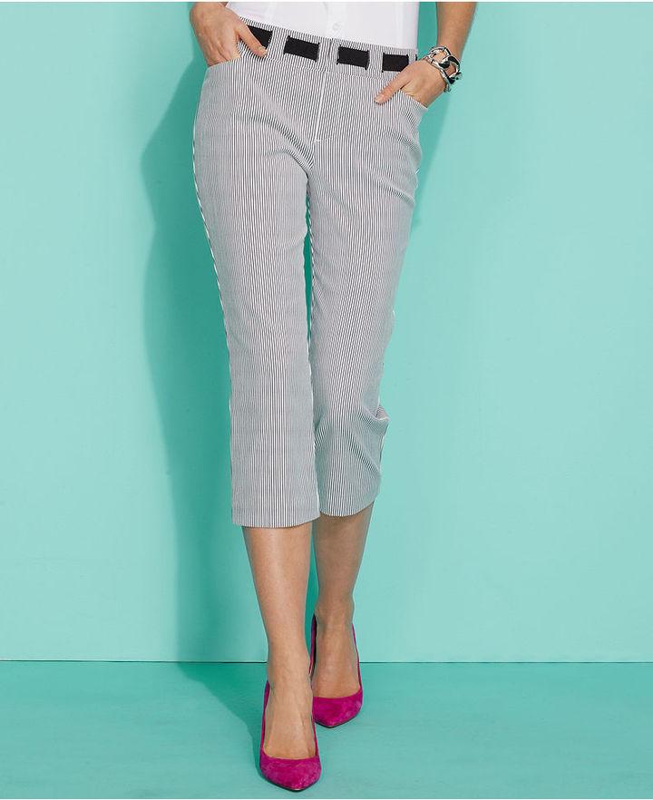 INC International Concepts Pants, Striped Capri
