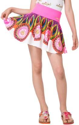 Desigual Banded Pleat Skirt