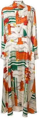 Gucci city print shirt dress