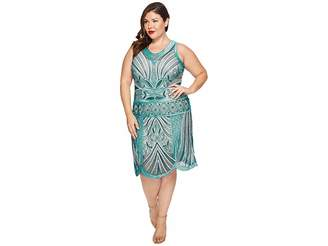Unique Vintage Plus Size Caspian Flapper Dress Women's Dress