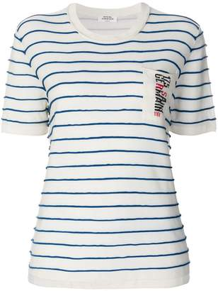 Sonia Rykiel striped pocket T-shirt