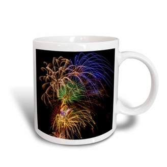 3dRose USA, Colorado, Frisco, Dillon Reservoir. Fireworks display, July 4th., Ceramic Mug, 11-ounce