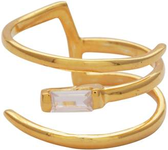 Carousel Jewels - Crystal and Gold Wrap Ring