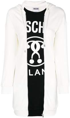 Moschino logo hooded sweater dress