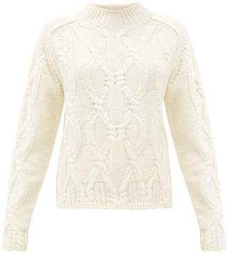 Acne Studios Kannick Cable Knit Wool Sweater - Womens - Ivory