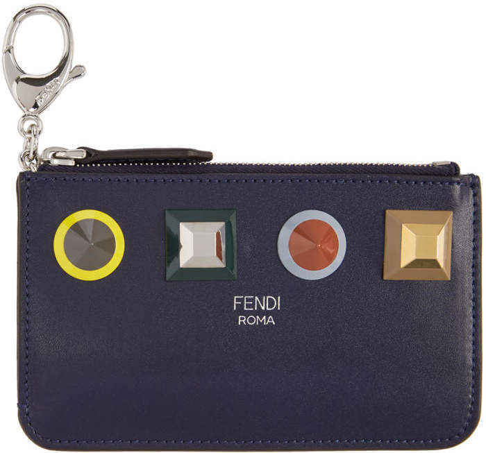 Fendi Blue Rainbow Coin Pouch