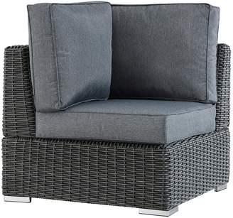 Homevance HomeVance Ravinia Charcoal Wicker Patio Corner Chair
