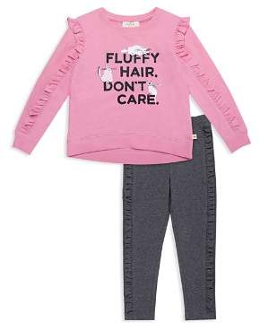Kate Spade Girls' Fluffy-Hair Top & Leggings Set - Little Kid