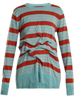 Sies Marjan - Coralie Striped Cotton Sweater - Womens - Multi