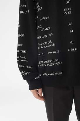 3.1 Phillip Lim Hooded Receipt Print Sweater