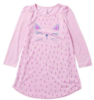 Petit Lem Kitten Girl Nightgown (Toddler & Little Girls)