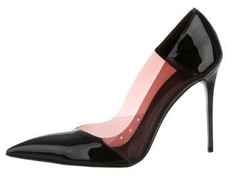 Stella McCartney Pointed-Toe PVC Pumps