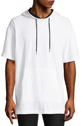 Akademiks Mens Hooded Neck Short Sleeve T-Shirt