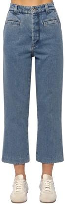 Loewe Cropped Fisherman Cotton Denim Jeans