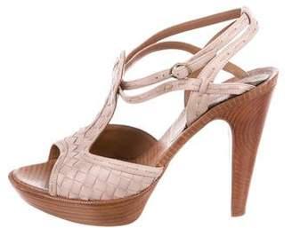 Bottega Veneta Intrecciato Ankle-Strap Sandals