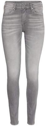 H&M Skinny Regular Ankle Jeans - Gray