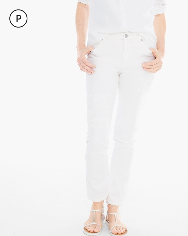 Chico'sPatchwork Girlfriend Ankle Jeans