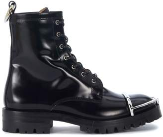 Alexander Wang Lyndon Black Brushed Leather Ankle Boots