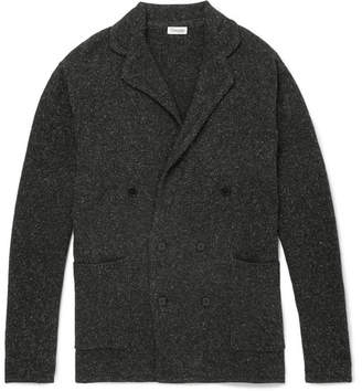 Camoshita Double-Breasted Mélange Wool-Blend Cardigan