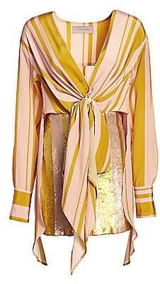 Silvia Tcherassi Women's Gertrude Knotted Sequin Dress