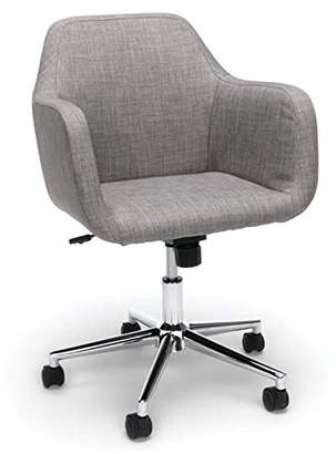 Essentials ESS-2085-GRY Upholstered Home Office Chair - Ergonomic Desk Chair with Arms for Conference Room or Office