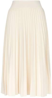 Polo Ralph Lauren Wool Pleated Midi Skirt