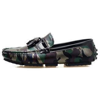 46019a04fe5 Carol Chambers Camouflage Moccasin Shoes Mens Leather Loafers with Tassels  Men Breathable Moccasins Slip-On