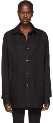 Ann Demeulemeester Black Oversized Cotton Shirt