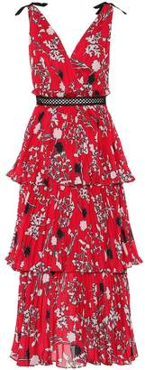 Self-Portrait Self Portrait Floral crepe de chine dress