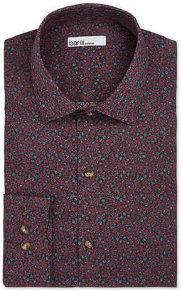 Bar III Men's Slim-Fit Stretch Easy-Care Watercolor Floral Dress Shirt