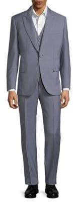 Brioni Wool & Mohair Solid Suit & Vest Set