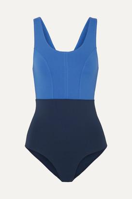 Ernest Leoty - Victoire Color-block Swimsuit - Navy