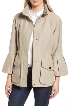 Gallery Bell Sleeve Jacket with Stowaway Hood