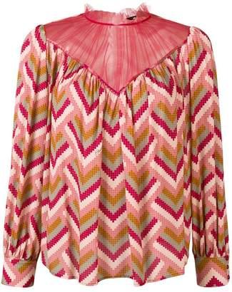 Elisabetta Franchi geometrical print blouse